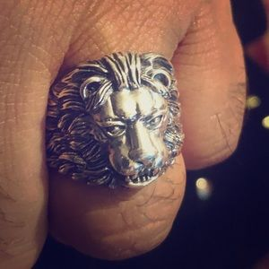 """Other - """"LION HEAD RING"""" - 925 STERLING SILVER"""